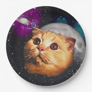 Prato De Papel lua do gato, gato e lua, catmoon, gato da lua