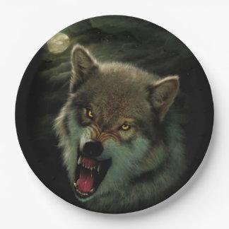 Prato De Papel Lua do lobo