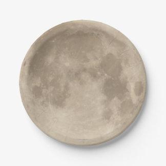 Prato De Papel Lua eclipsa 2015 de n°2.