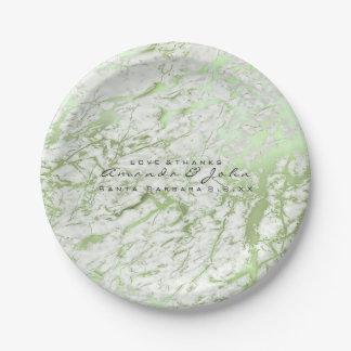 Prato De Papel luxo branco de pedra de mármore das hortaliças do