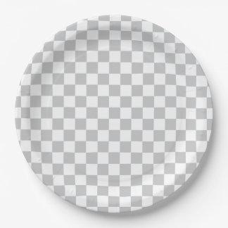 Prato De Papel Luz - tabuleiro de damas cinzento