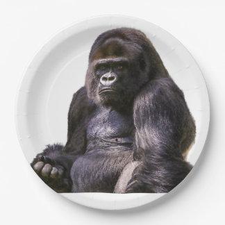 Prato De Papel Macaco do macaco do gorila