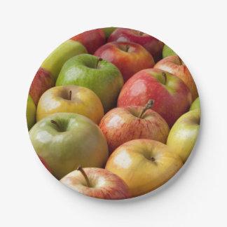Prato De Papel Maçãs - maduras & coloridas