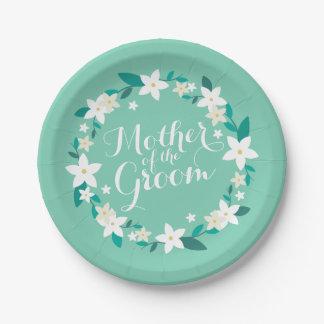 Prato De Papel Mãe da placa de papel elegante do casamento   do