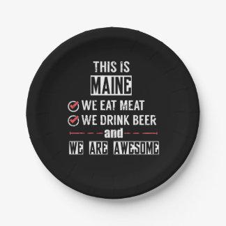 Prato De Papel Maine come a cerveja da bebida da carne