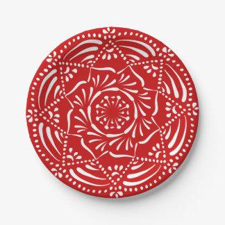Prato De Papel Mandala da cereja