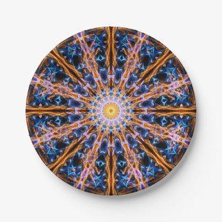 Prato De Papel Mandala da estrela da alquimia