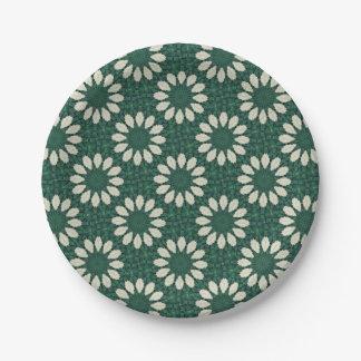 Prato De Papel Mandala. da folha verde e de prata de Sacramento