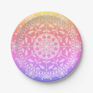 Prato De Papel Mandala de Gwias da edição especial