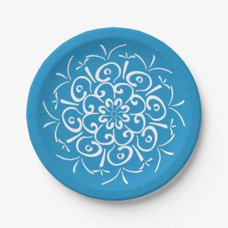 Prato De Papel Mandala do Bluebird