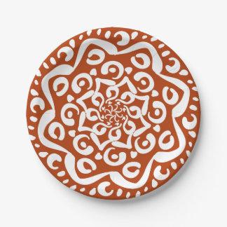 Prato De Papel Mandala do Henna