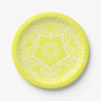 Prato De Papel Mandala do limão