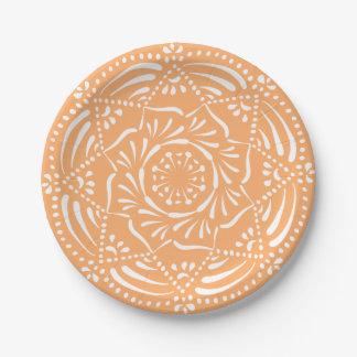 Prato De Papel Mandala do melão