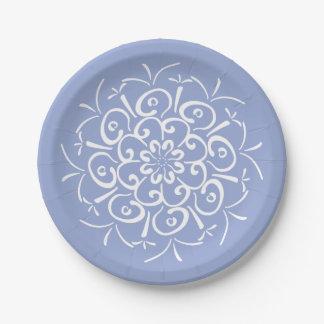 Prato De Papel Mandala do mirtilo