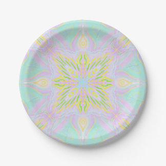 Prato De Papel Mandala do Pastel da borboleta