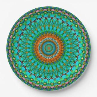 Prato De Papel Mandala geométrica G388 da placa de papel