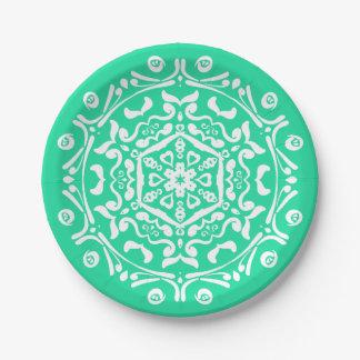 Prato De Papel Mandala Minty