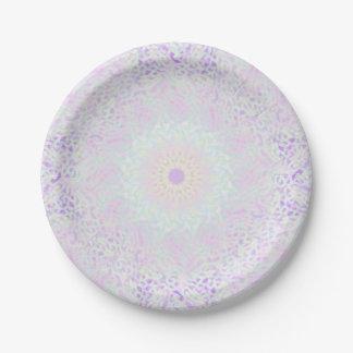 Prato De Papel Mandala Pastel do amor macio (grande)