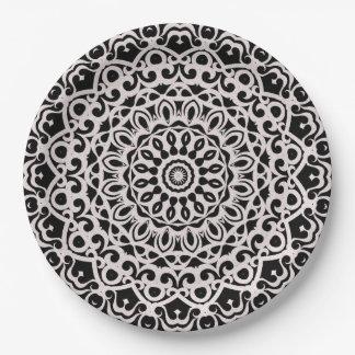 Prato De Papel Mandala tribal G385 da placa de papel