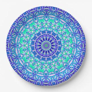 Prato De Papel Mandala tribal G389 da placa de papel