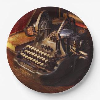 Prato De Papel Máquina de dactilografia de Steampunk - de Oliver