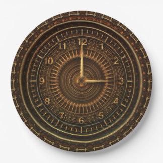 Prato De Papel Maquinismo de relojoaria de cobre antiquado do
