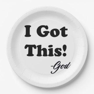 Prato De Papel Mensagem do deus