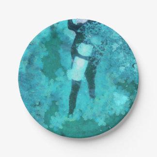 Prato De Papel Mergulhador e bolhas de mergulhador