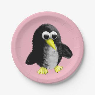 Prato De Papel Meu amigo o pinguim