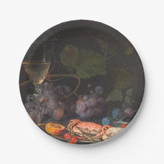 Prato De Papel Mignon de Abraham - ainda vida com caranguejos