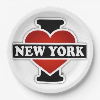 Prato De Papel Mim coração New York