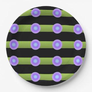 Prato De Papel Minimalismo verde e cor do Lilac