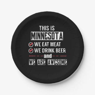 Prato De Papel Minnesota come a cerveja da bebida da carne