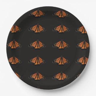 Prato De Papel Monarca na chave da laranja e do preto