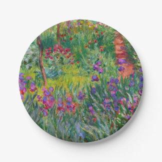 """Prato De Papel Monet """"o jardim da íris em Giverny"""""""