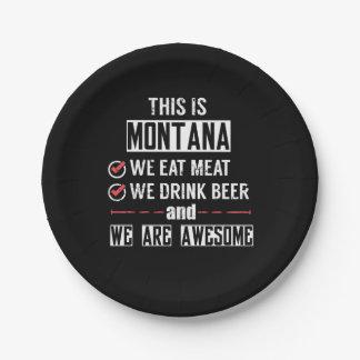 Prato De Papel Montana come a cerveja da bebida da carne