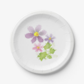 Prato De Papel Mosaico 2 da flor da flor