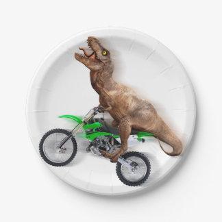 Prato De Papel Motocicleta do rex de T - passeio do rex de t -