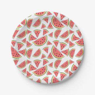 Prato De Papel Multi placas de papel da melancia