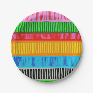 Prato De Papel multicolorido