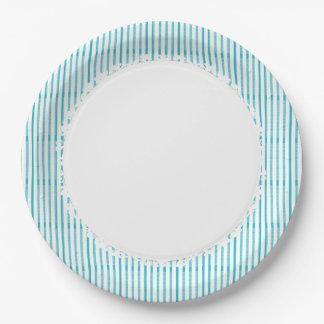 Prato De Papel Na moda-Azul-Branco-Diário-Comemorar-Multi-Uso
