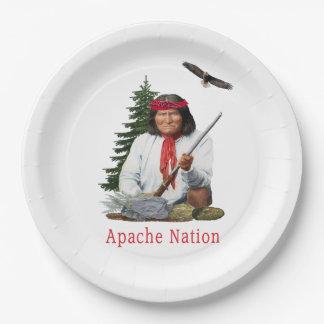 Prato De Papel Nação de Apache