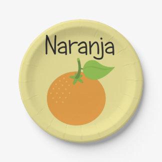 Prato De Papel Naranja (alaranjado)