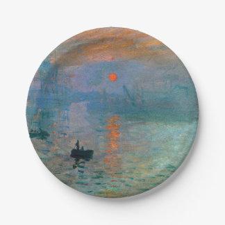 Prato De Papel Nascer do sol da impressão por Claude Monet