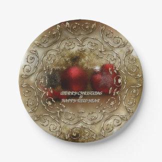 Prato De Papel Natal/ano novo das placas do partido