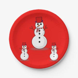 Prato De Papel Natal das placas de papel