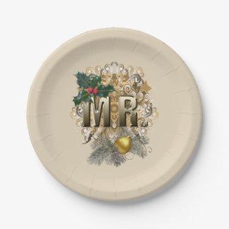 Prato De Papel Natal de MR.First