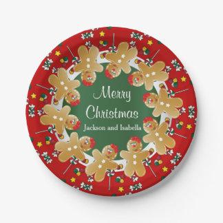 Prato De Papel Natal doce do pão-de-espécie