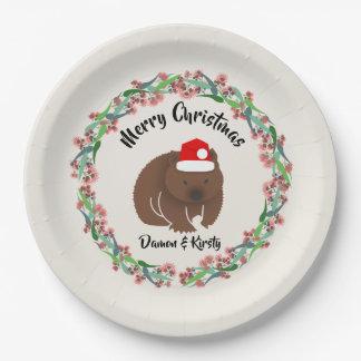 Prato De Papel Natal Wombat