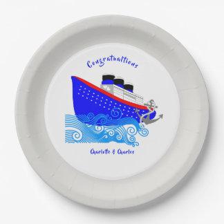 Prato De Papel Náutico do navio de cruzeiros personalizado